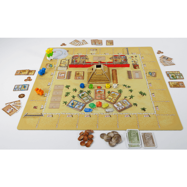 Camel Up playmat speelsituatie