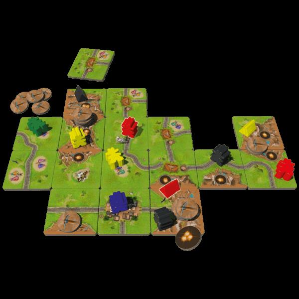 Carcassonne-Goudkoorts-speelmateriaal