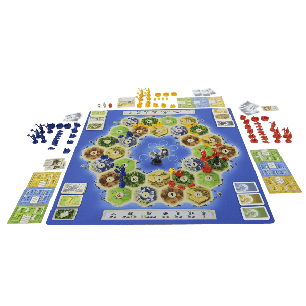 Catan playmat Atoll speelsituatie1