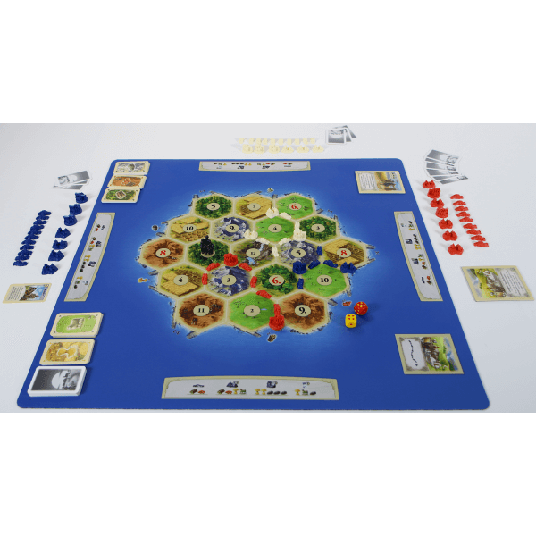 Catan playmat Gold speelsituatie