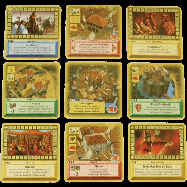 De Kolonisten van Caten Het kaartspel politiek en Intrige spel