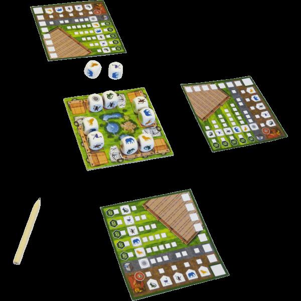 Dierentuin-Dobbelspel-spel
