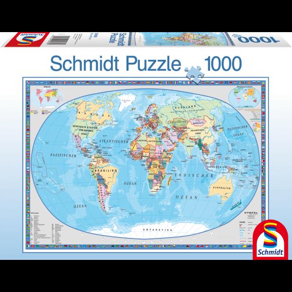 Geographical Worldmap 1000 pcs