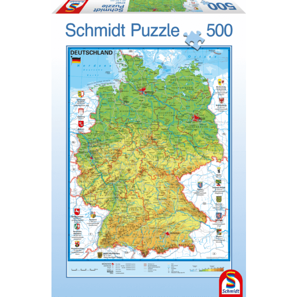Map of Germany 500 pcs