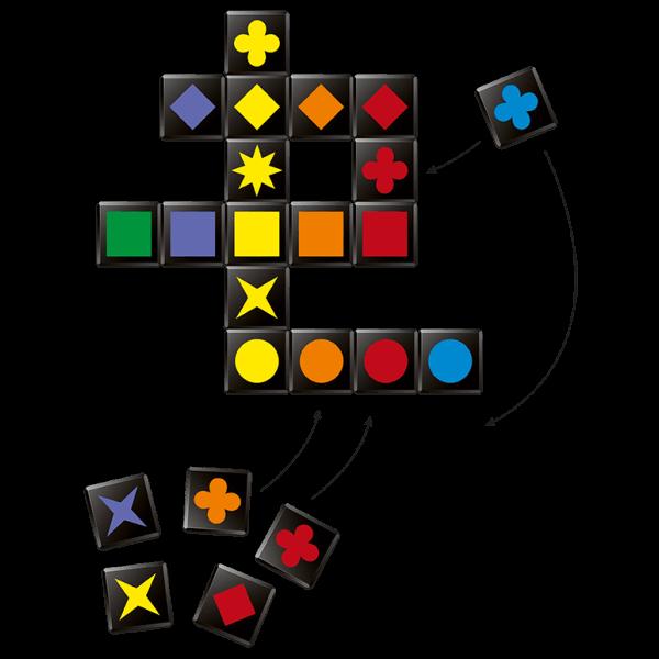Qwirkle Cubes uitleg