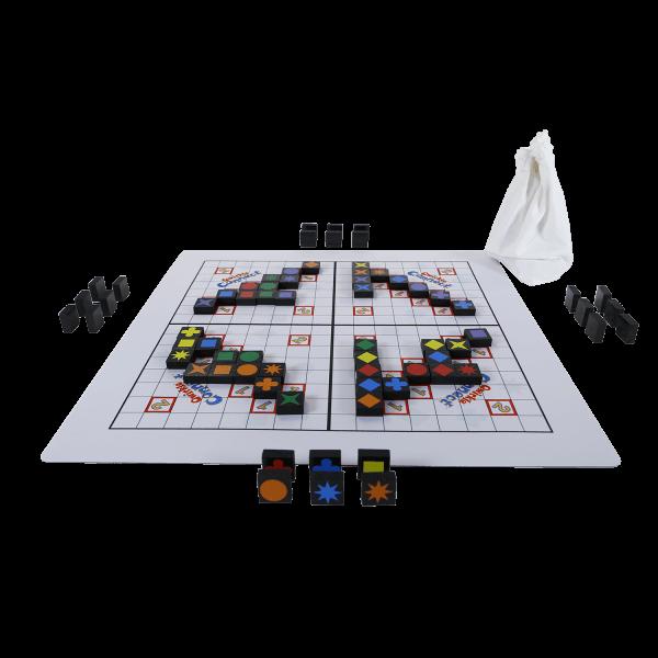 Qwirkle playmat Connect speelsituatie1