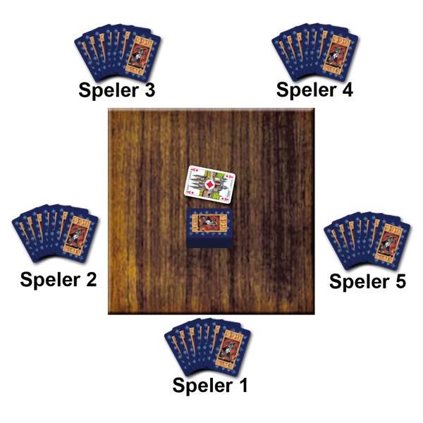 Voorbeeld Kaartspel Mao van 999 Games