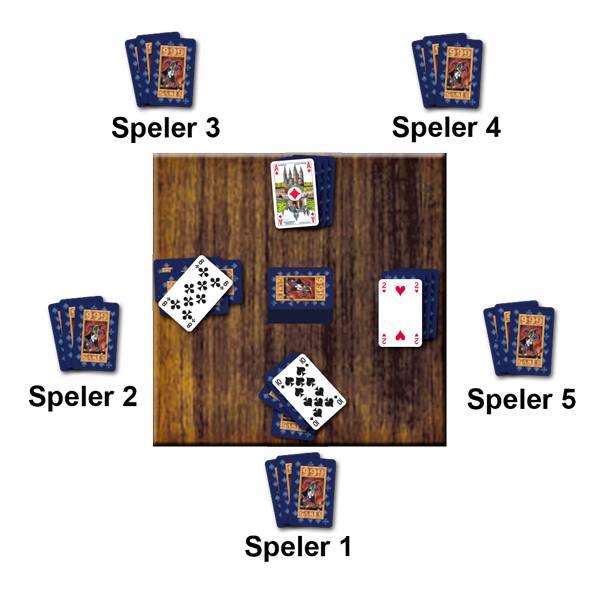 Voorbeeld Kaartspel Shithead van 999 Games