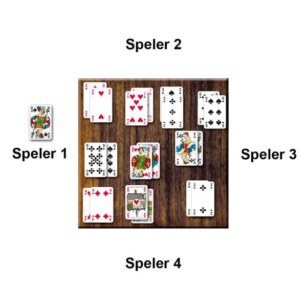 Voorbeeld Kaartspel Zwartepiet van 999 Games